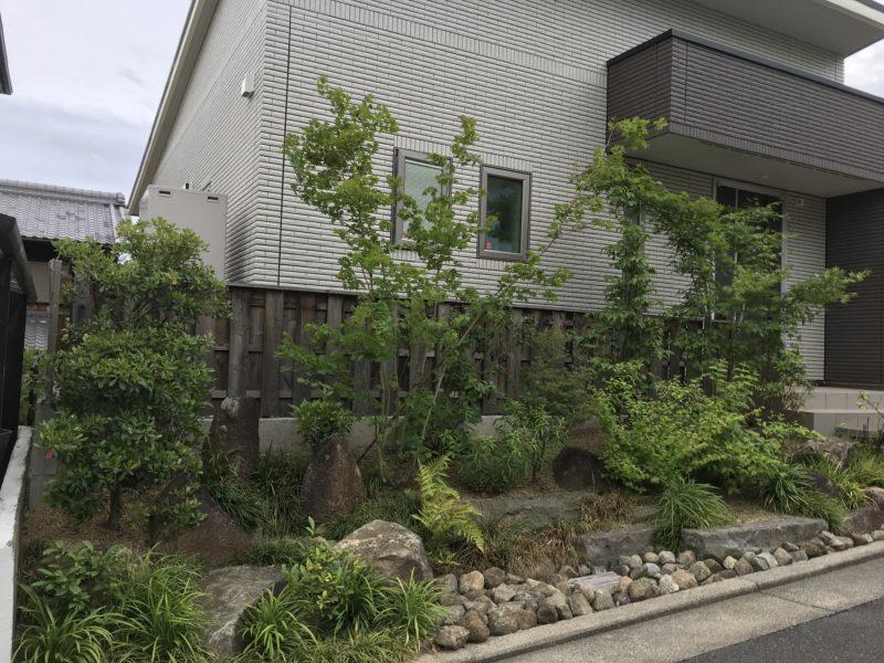 土屋作庭所の作庭例 精華町の表庭